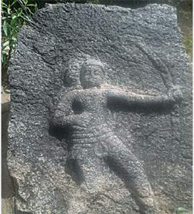 chola period hero stone